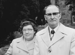 Wedding pre war (Edwards) Richard Thomas (Llechwedd) Mr. and Mrs. Will Hughes Priory Mark Evans Jones. - Apr-77 thumbnail