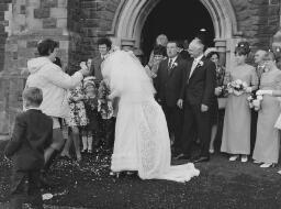 """Wedding"" Colin Rayner, Frieda Jones. Portmadoc No 1 - November 1st 1969 thumbnail"