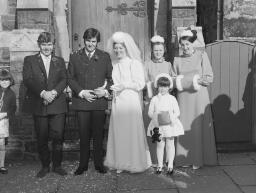 Wedding - Shirley and Glyn Evans - English Chapel; No 1 - Oct-69 thumbnail