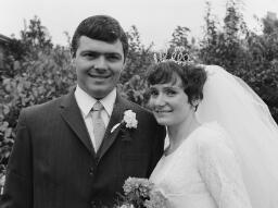 """Wedding""; Colin Rayner - Frieda Jones Portmadoc No 2 - Novermber 1st 1969 thumbnail"