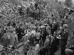 Moira Jones, Chris. Johnson Manod Road. Mr. & Mrs. Johnson, Manod. Dorothy Evans (SCRAP), Queen Elizabeth II. John Keith Roberts Llan, Ffestiniog Railway Tunnel - Jun-77 thumbnail