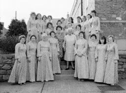 Part Cor Gyfynys. Passports, Full Choir, ??? Carnival, Pisga Tea for Todlers. Frank Davies. Girls at A. T. C. - Jun-77 thumbnail
